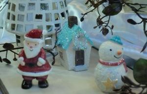 サンタと雪だるま.JPG